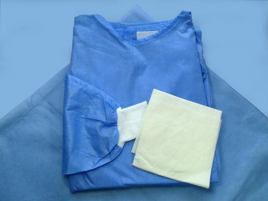 fartuch chirurgiczny jednorazowy z włókniny wielowarstwowej