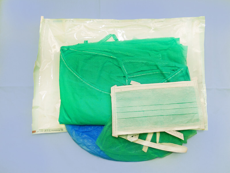 Komplet medyczny dla chirurgów jałowy